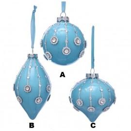 Kerstbal Blauw Assorti