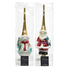 Piek Kerstman-Sneeuwpop Goud