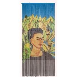Deurgordijn Frida Kalho met Vogel