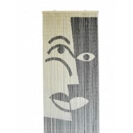 Deurgordijn Bamboe Picasso Zwart-Wit