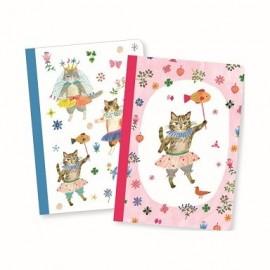Djeco 2 Kleine Notitieboekjes Aiko