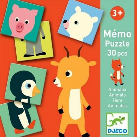Djeco Memorie Puzzel Dieren