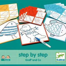 Djeco Tekenkaarten Step by Step Graff and Co