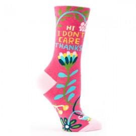 Hippe Dames Sokken- Hi I Don't Care.