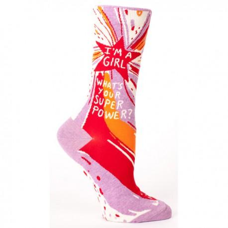 Hippe Dames Sokken-Superpower