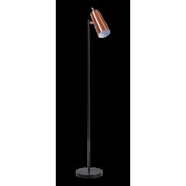 Vloerlamp Brooklyn Zwart-Koper
