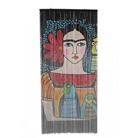 Deurgordijn Bamboe Frida Illustratie