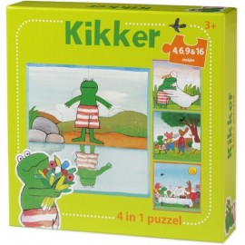 Kikker 4 in 1 Puzzel