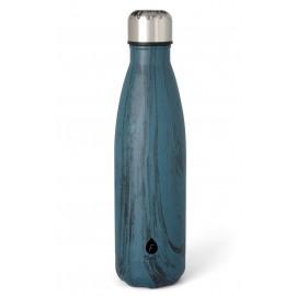 Flas'i Waterfles 500 ml Marmer Blauw