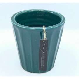 Bloempot Henry Turquoise L