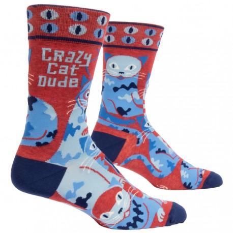 Hippe Heren Sokken - Crazy Cat Dude
