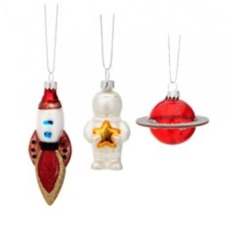 Set van 3 Kerstballen Out of Space
