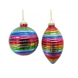 Kerstbal Regenboog Bal-Pegel