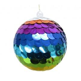Kerstbal Sequin Regenboog