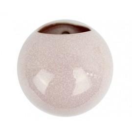 Wandpot Globe Glanzend Roze