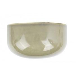 Wandpot Oval Wide Glanzend Grijs