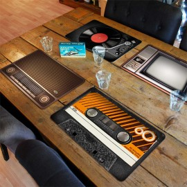 Set van 4 Retro Placemats