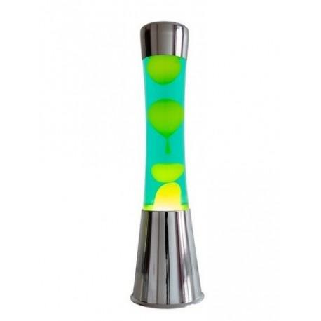 Lavalamp Groen-Geel Chroom