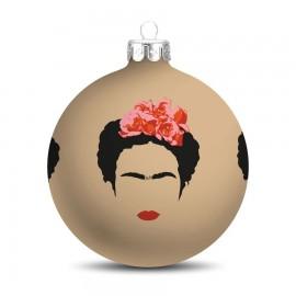 Popart Kerstbal Frida Kahlo