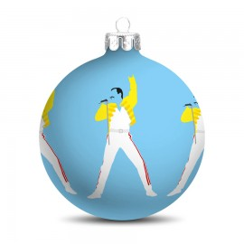 Popart Kerstbal Freddy Mercury