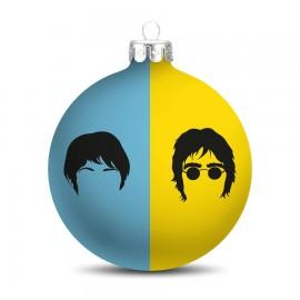 Popart Kerstbal The Beatles Blauw-Geel