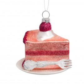 Kerstbal Roze Taart