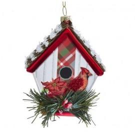 Kerstbal Vogelhuisje