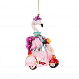Kerstbal Scoot Scoot Flamingo