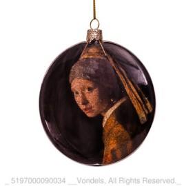 Kerstbal Disk Meisje van Vermeer