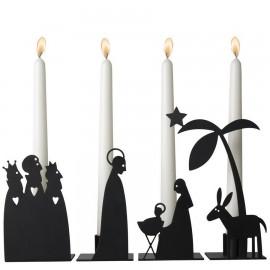 Adventskalender Kandelaars Kerststal