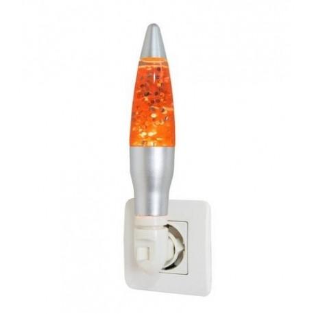 Led Glitter Nachtlamp Oranje