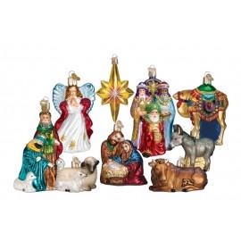 Luxe Set van 9 Ornamenten Kerststal