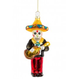 Kerstbal Day of the Dead Muziekant Mariachi