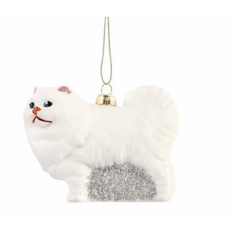 Kerstbal Witte Kat