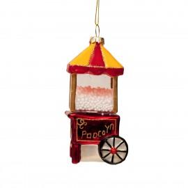 Kerstbal Popcornmachine