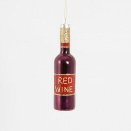 Kerstbal Fles Rode Wijn
