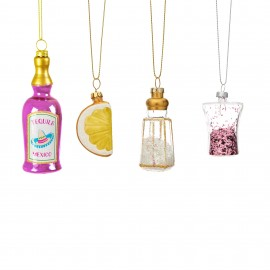 Mini Kerstballen set Tequila