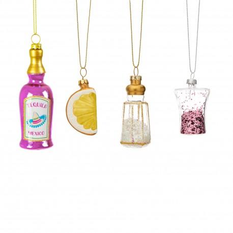 Mini Kerstballen set Tequila
