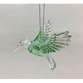 Kerstbal set Kolibrie Groen
