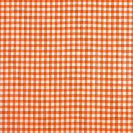 Kitsch Kitchen Tafelzeil Kleine Ruit Oranje