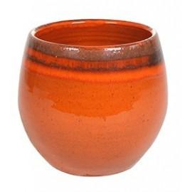 Bloempot Charlotte oranje H16