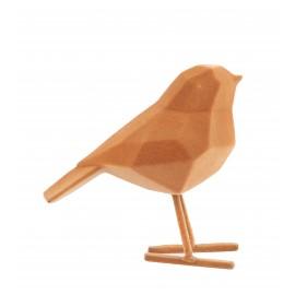 Beeld Vogel flocked bruin small