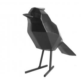 Beeld Vogel mat zwart large
