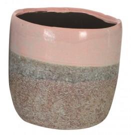 Bloempot Charly roze H10