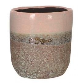 Bloempot Charly roze H8