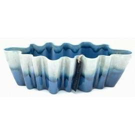 Bloempot Durban 1 donkerblauw-grijs