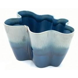 Bloempot Durban 2 donkerblauw-grijs