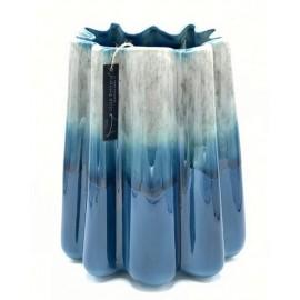 Bloempot-Vaas Durban 3 donkerblauw-grijs