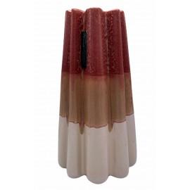 Bloempot-Vaas Durban 4 rood-roze