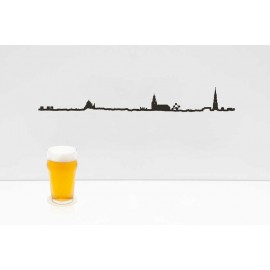 The Line Skyline Brussel zwart 50 cm